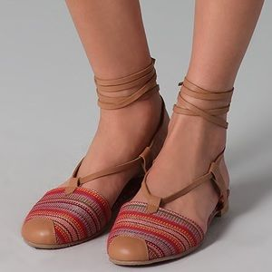Jeffrey Campbell Woven Aztec Screech Sandals Red